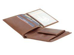 Gai Mattiolo Man Leather Wallet Small size Green-6293