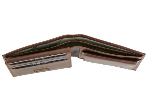 Gai Mattiolo Man Leather Wallet Small size Green-6292