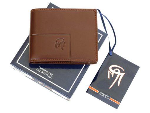 Gai Mattiolo Man Leather Wallet Small size Green-6286