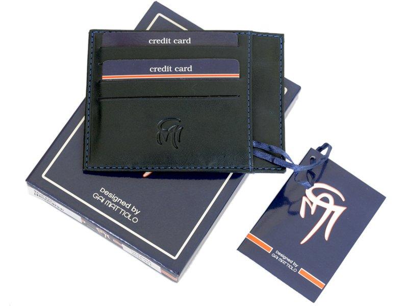 Gai Mattiolo Credit Card Holder Black-4277