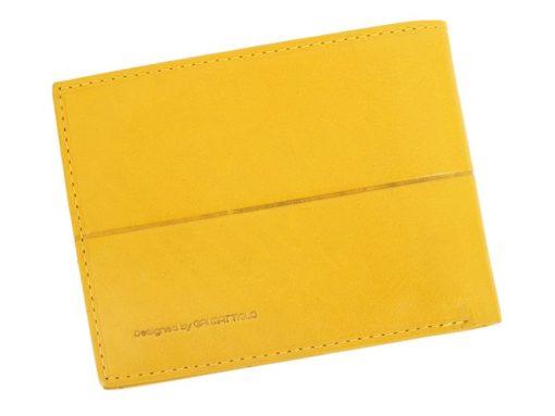 Gai Mattiolo Man Leather Wallet Yellow-6303