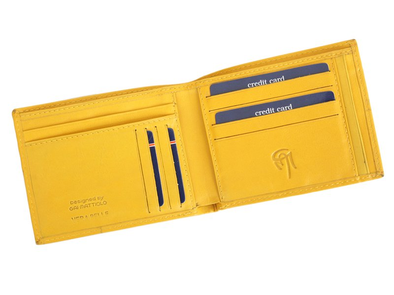 Gai Mattiolo Man Leather Wallet Yellow-6308
