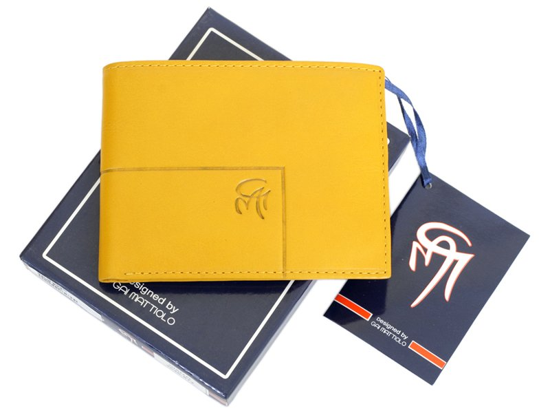 Gai Mattiolo Man Leather Wallet Black-6356