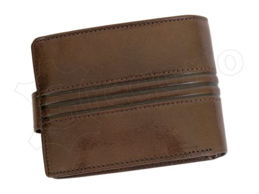 Pierre Cardin Man Leather Wallet Dark Brown-4800