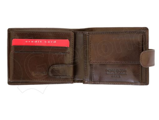 Pierre Cardin Man Leather Wallet Dark Brown-4803