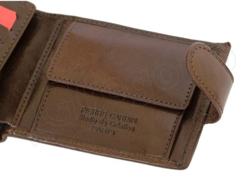 Pierre Cardin Man Leather Wallet Dark Brown-4806
