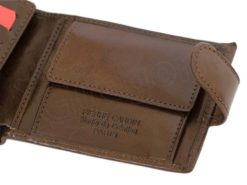 Pierre Cardin Man Leather Wallet Brown-6737