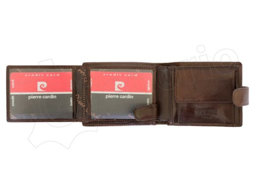 Pierre Cardin Man Leather Wallet Dark Brown-4797