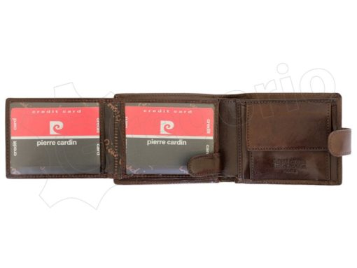 Pierre Cardin Man Leather Wallet Brown-6743