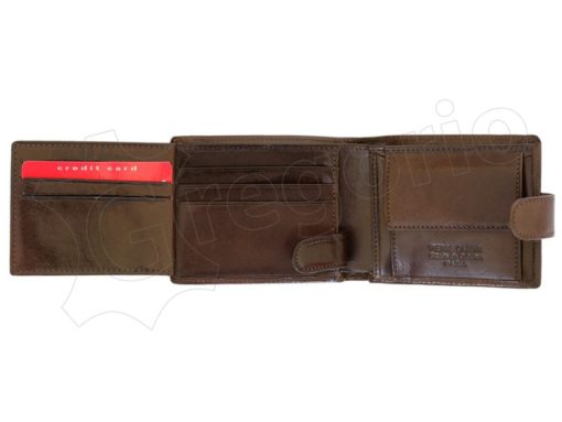 Pierre Cardin Man Leather Wallet Dark Brown-4807