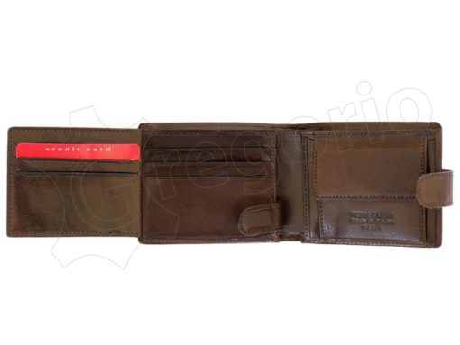 Pierre Cardin Man Leather Wallet Brown-6744