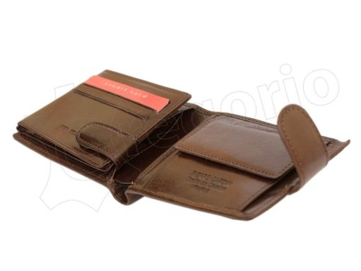 Pierre Cardin Man Leather Wallet Dark Brown-4805