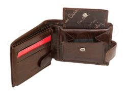 Pierre Cardin Man Leather Wallet Dark Brown-4798