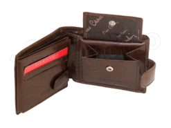 Pierre Cardin Man Leather Wallet Brown-6735