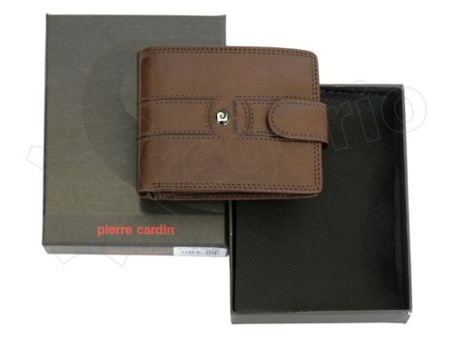 Pierre Cardin Man Leather Wallet Brown-6740
