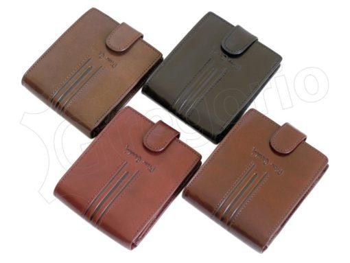 Pierre Cardin Man Leather Wallet Dark Black-4897