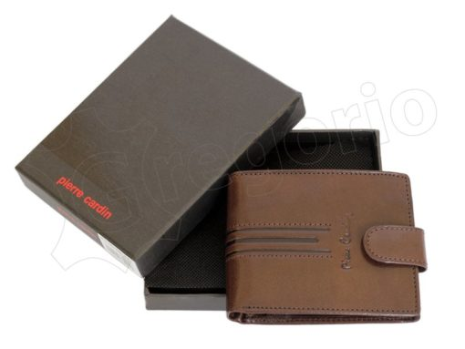 Pierre Cardin Man Leather Wallet Dark Brown-4802