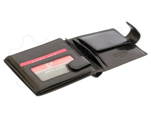 Pierre Cardin Man Leather Wallet Dark Brown-4891