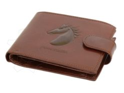 Pierre Cardin Man Leather Wallet with Horse Black-5069