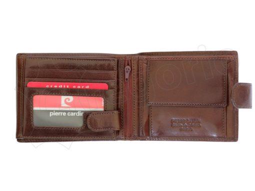 Pierre Cardin Man Wallet with Horse Dark Brown-5015
