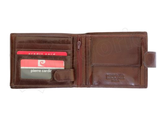 Pierre Cardin Man Leather Wallet with Horse Brown-5049