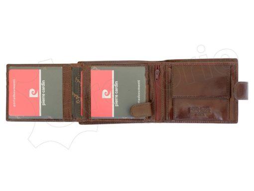 Pierre Cardin Man Wallet with Horse Dark Brown-5016