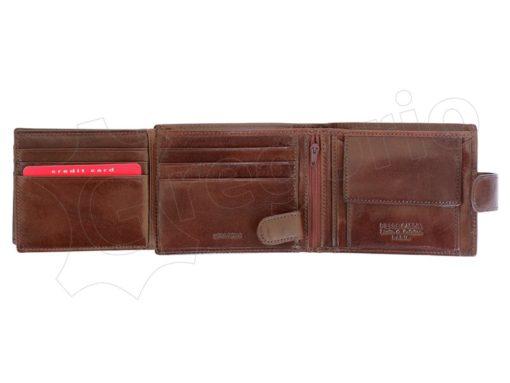 Pierre Cardin Man Wallet with Horse Dark Brown-5014