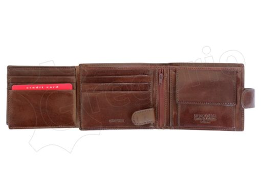 Pierre Cardin Man Leather Wallet with Horse Brown-5048
