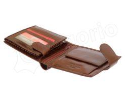 Pierre Cardin Man Wallet with Horse Dark Brown-5011