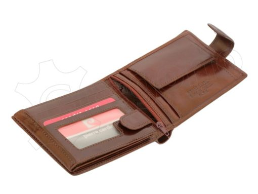 Pierre Cardin Man Leather Wallet with Horse Cognac-5026