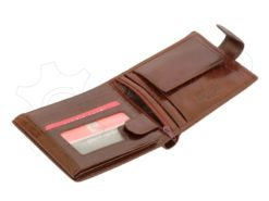 Pierre Cardin Man Leather Wallet with Horse Brown-5043