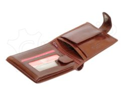 Pierre Cardin Man Leather Wallet with Horse Brown-5038