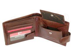 Pierre Cardin Man Wallet with Horse Dark Brown-5006