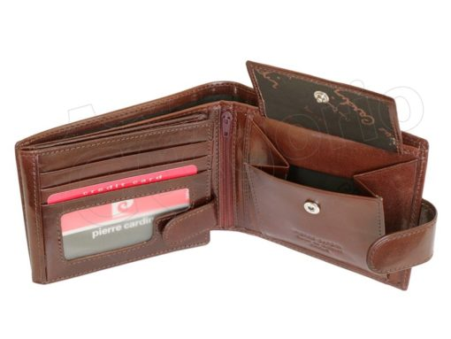 Pierre Cardin Man Leather Wallet with Horse Brown-5040