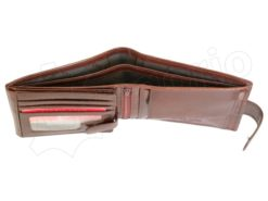 Pierre Cardin Man Leather Wallet with Horse Brown-5044