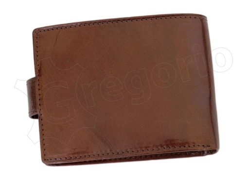 Pierre Cardin Man Leather Wallet with horse Brown-5187