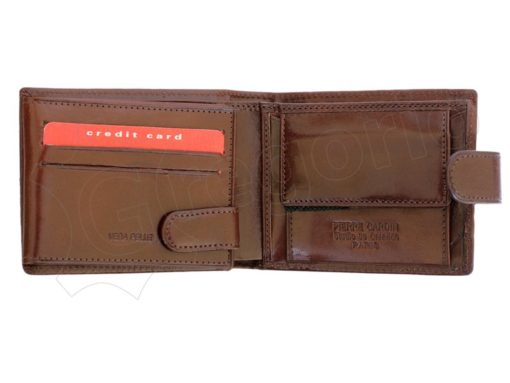 Pierre Cardin Man Leather Wallet with horse Cognac-5217