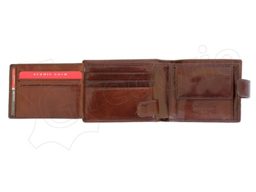 Pierre Cardin Man Leather Wallet with horse Brown-5198