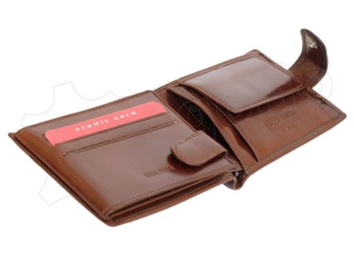 Pierre Cardin Man Leather Wallet with horse Brown-5196