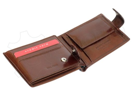 Pierre Cardin Man Leather Wallet with horse Brown-5189