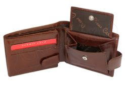 Pierre Cardin Man Leather Wallet with horse Black-5163