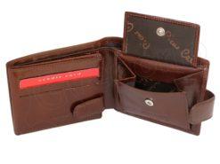 Pierre Cardin Man Wallet with horse Dark Brown-5180