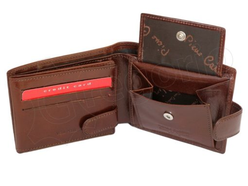 Pierre Cardin Man Leather Wallet with horse Brown-5197