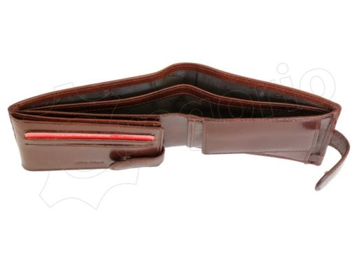 Pierre Cardin Man Leather Wallet with horse Brown-5199