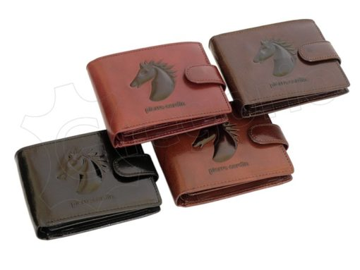 Pierre Cardin Man Leather Wallet with horse Cognac-5203