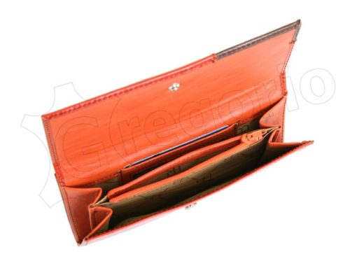 Renato Balestra Leather Women Purse/Wallet Brown Orange-5574