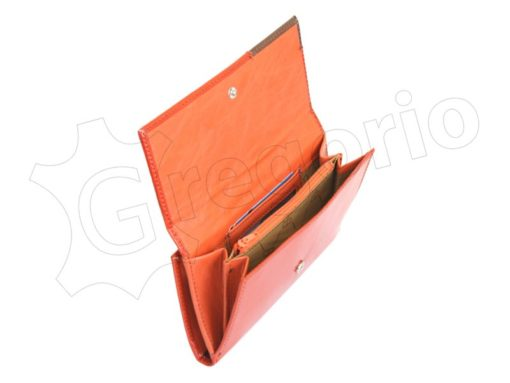 Renato Balestra Leather Women Purse/Wallet Orange Brown-5556