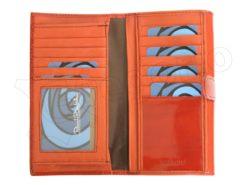 Renato Balestra Leather Women Purse/Wallet Orange Dark Brown-5580