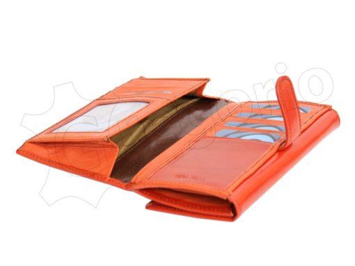 Renato Balestra Leather Women Purse/Wallet Orange Dark Brown-5592
