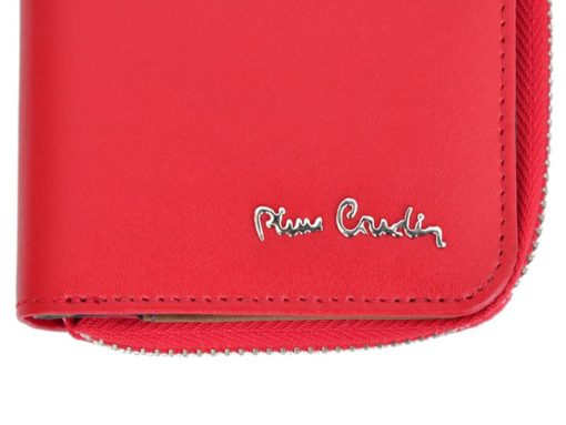 Pierre Cardin Women Leather Wallet with Zip Claret-5937